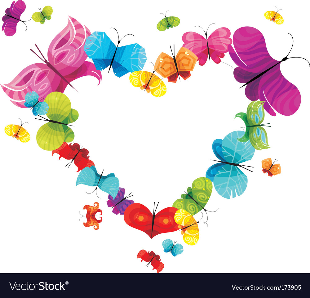 Design heart vector image