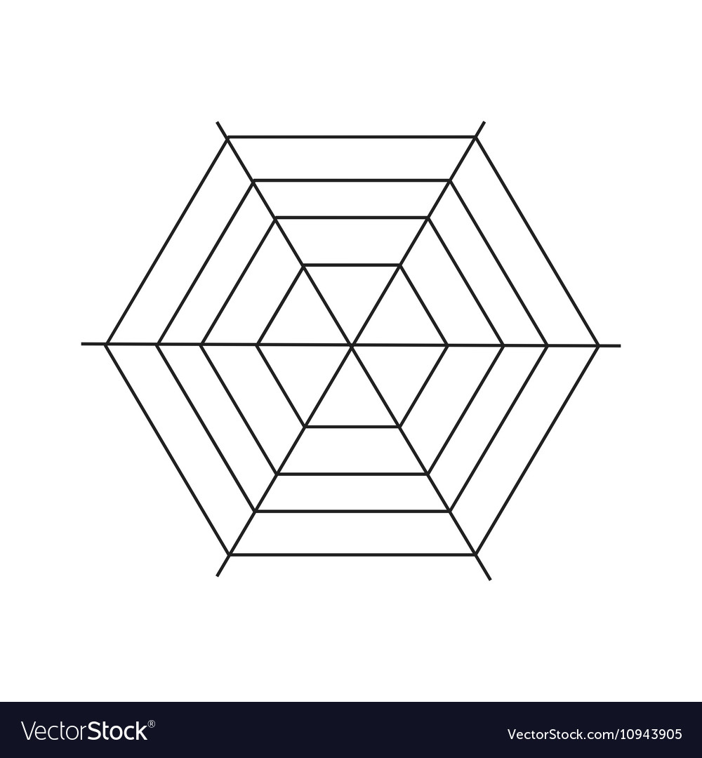 Spiderweb icon simple style vector image