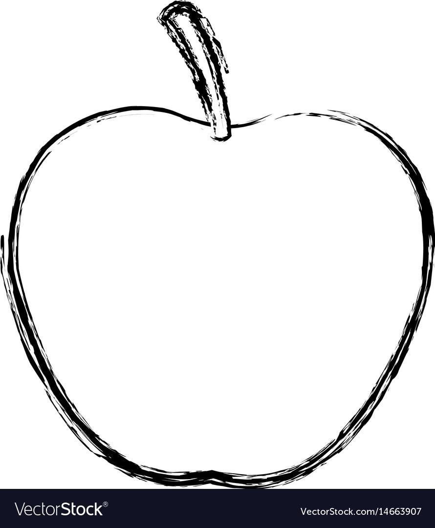 Apple juicy fruit food healthy skecth vector image