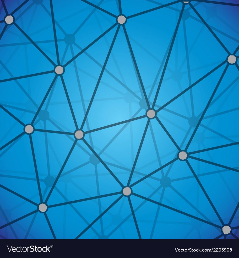 Molecular background vector image