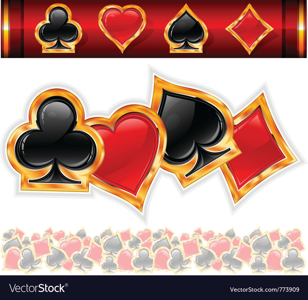 Card suit icons vector image