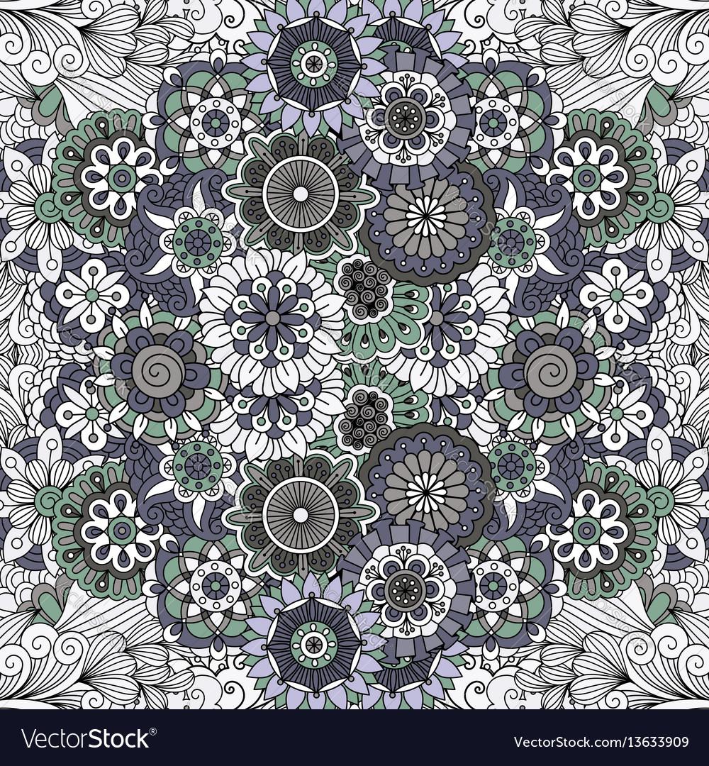 Floral mandala like pattern vector image