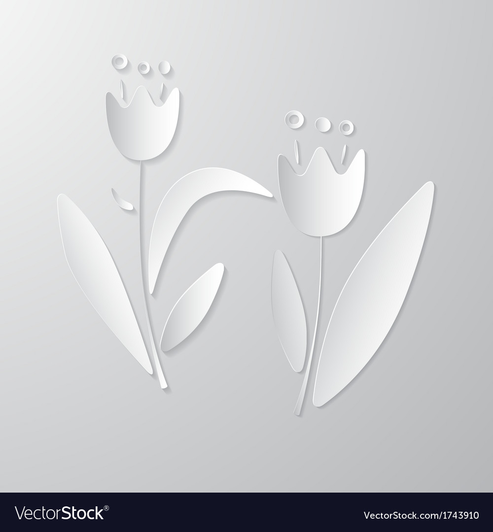 Paper Flowers vector image