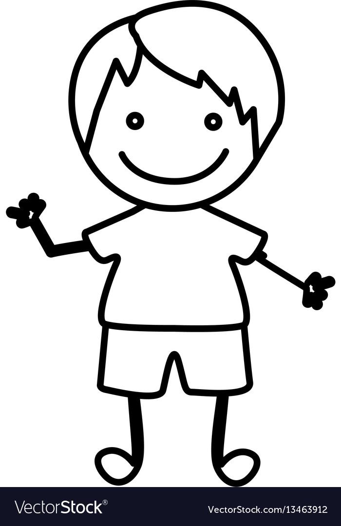 Figure happy boy icon vector image