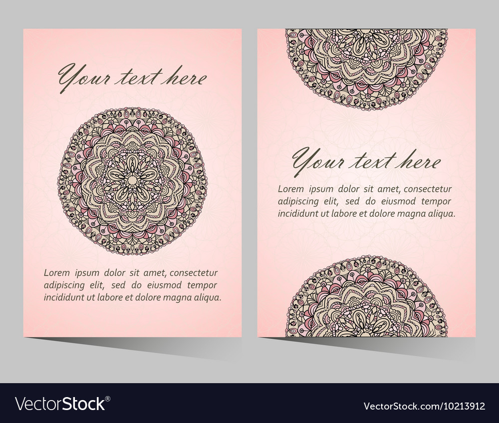 Ornaments collection with mandala circular pattern vector image