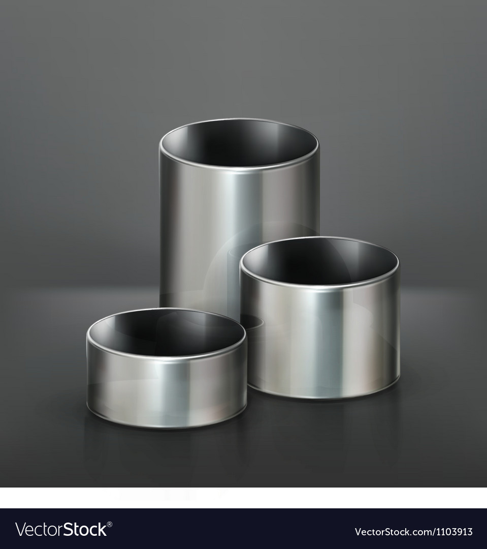 Steel pipes vector image
