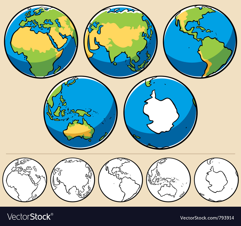 Earth vector image