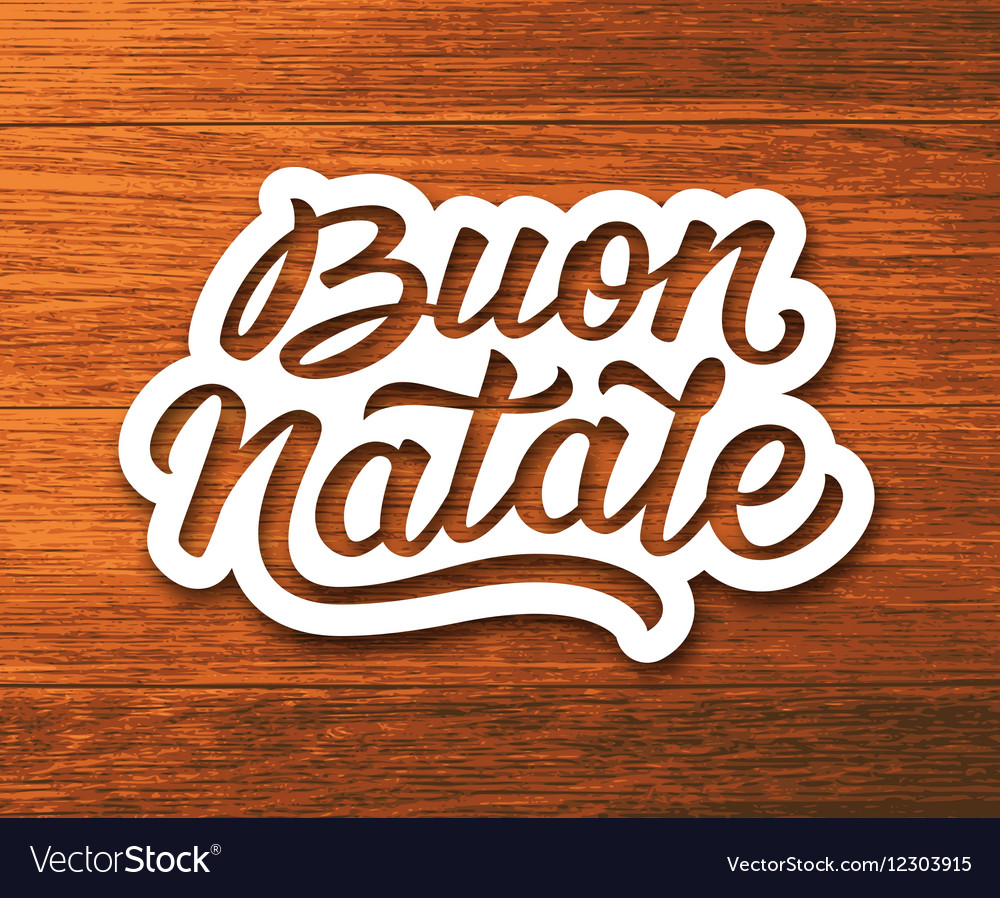 Merry christmas greetings text in italian vector image kristyandbryce Images