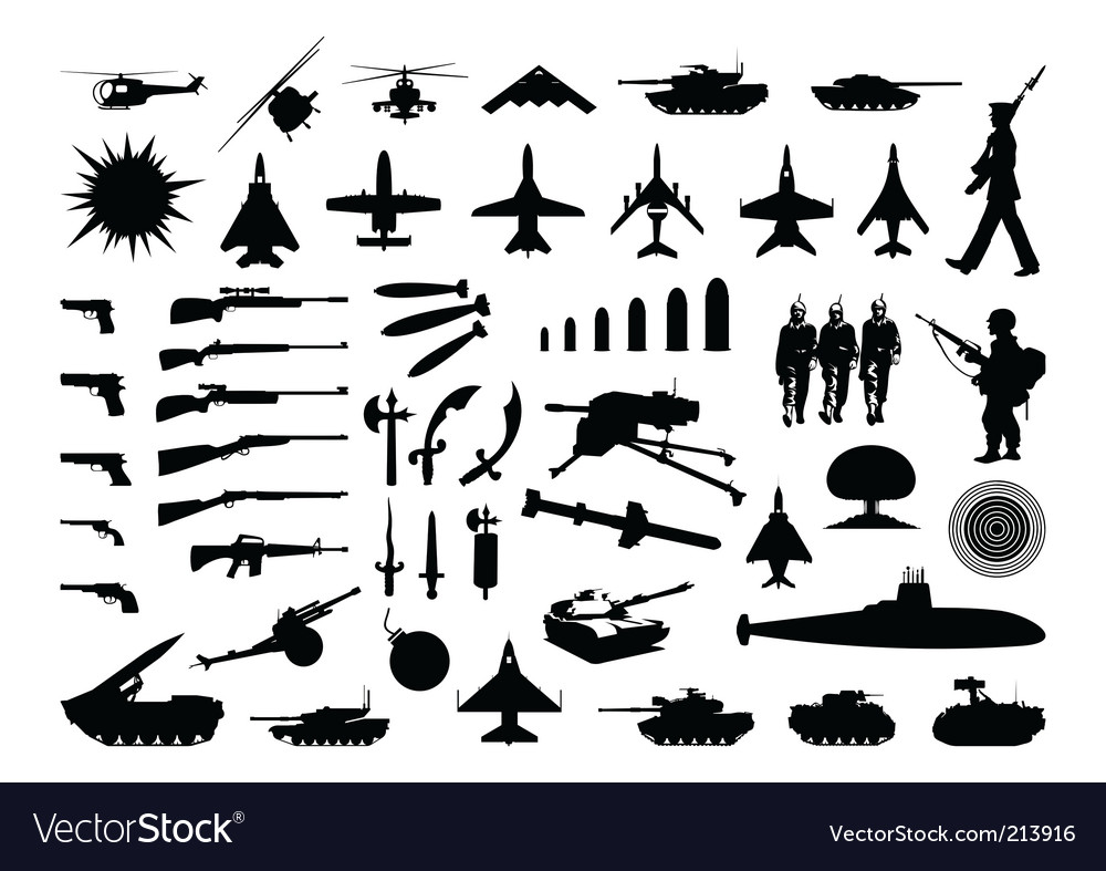 Military collection vector image