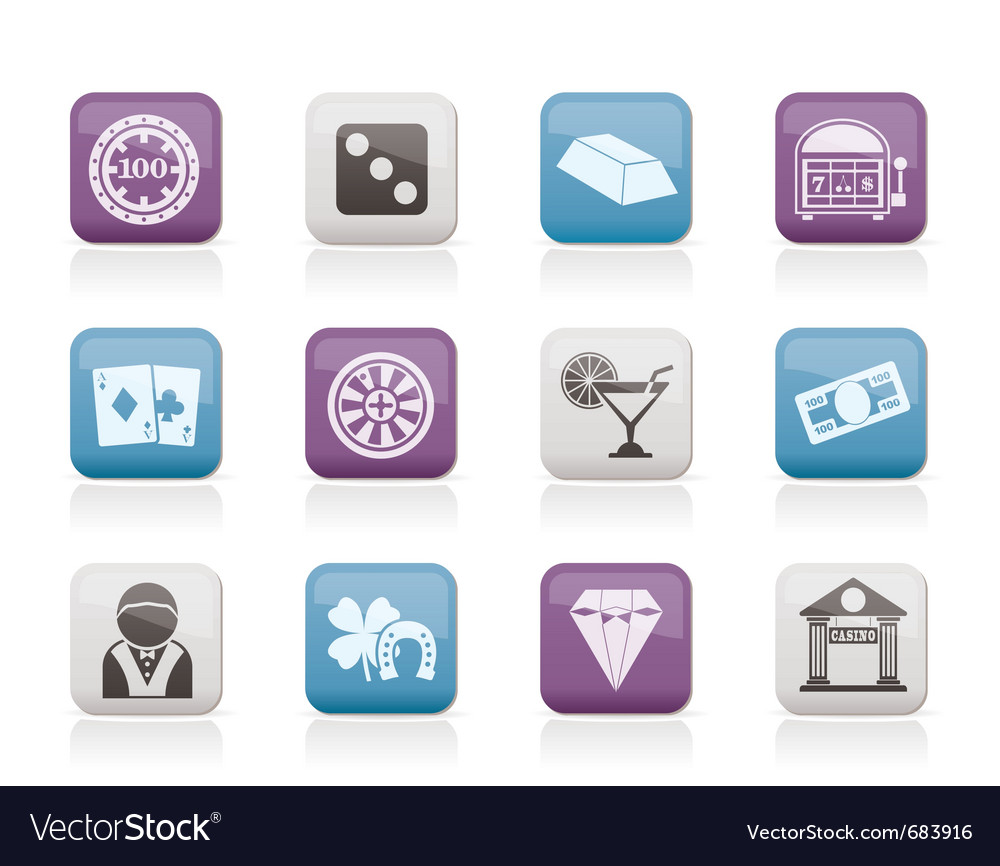 Casino and gambling icons Vector Image