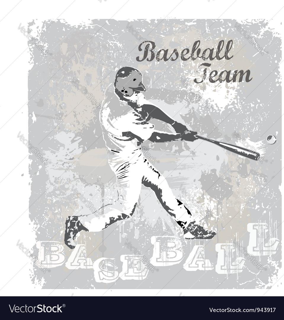 Baseball hit vector image