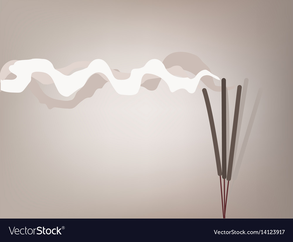 Incense stick vector image