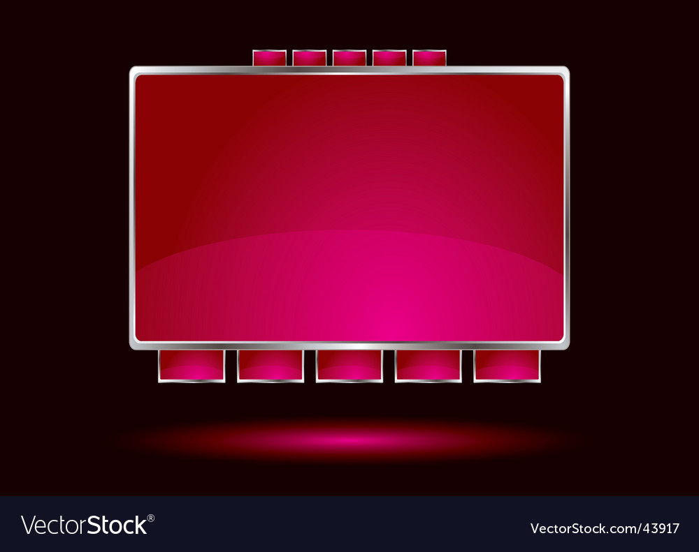 Red interface vector image