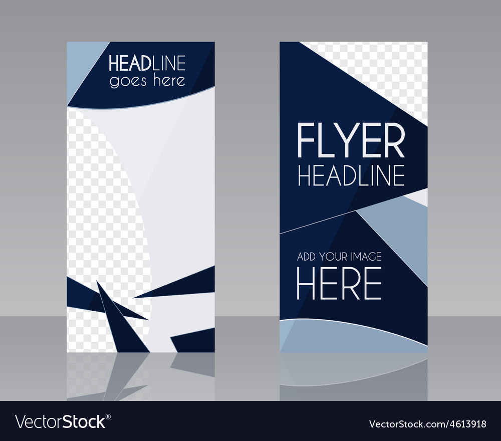 Brochure Flyer design Layout template Blue vector image