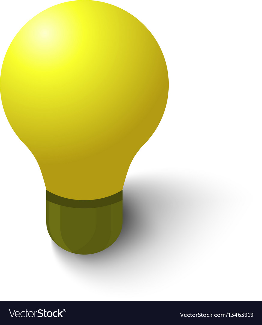 Lamp icon isometric style vector image