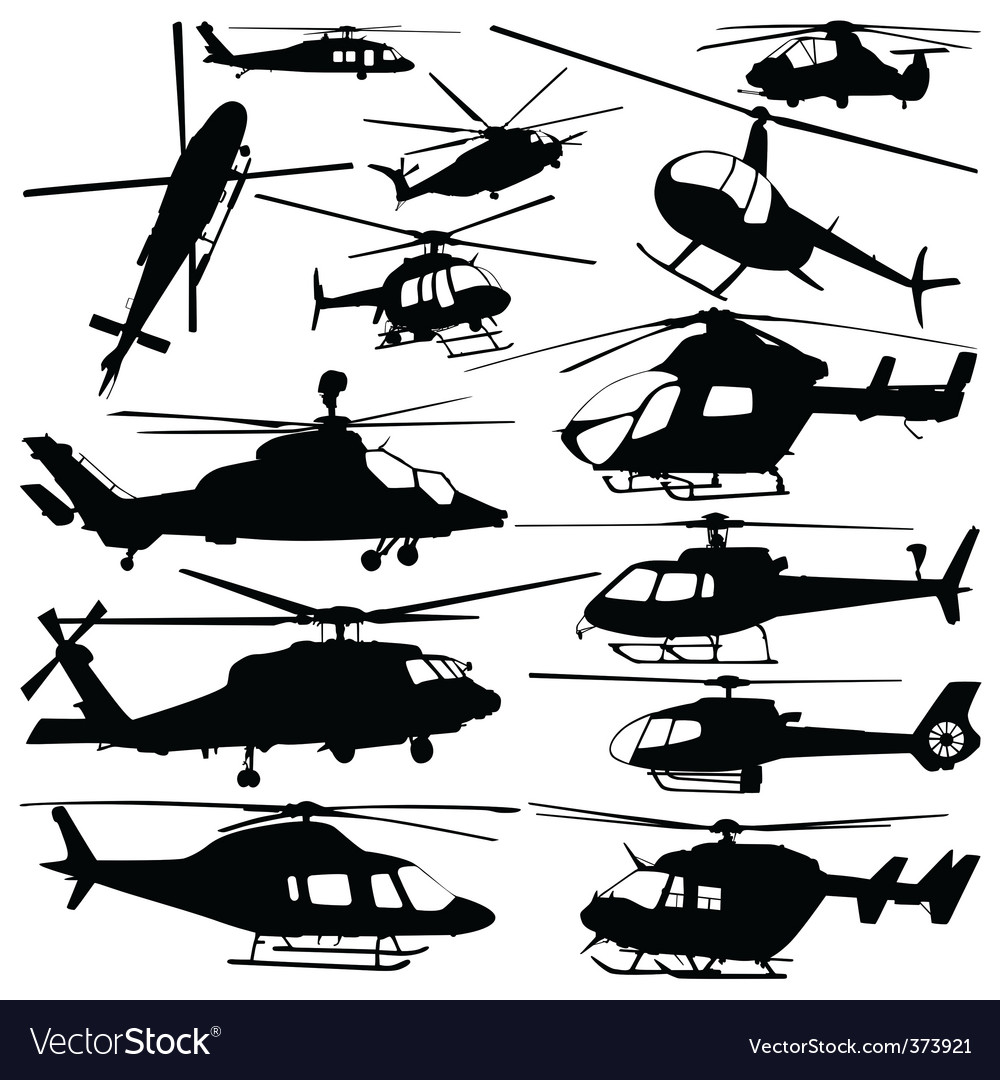 Helicopter vector image