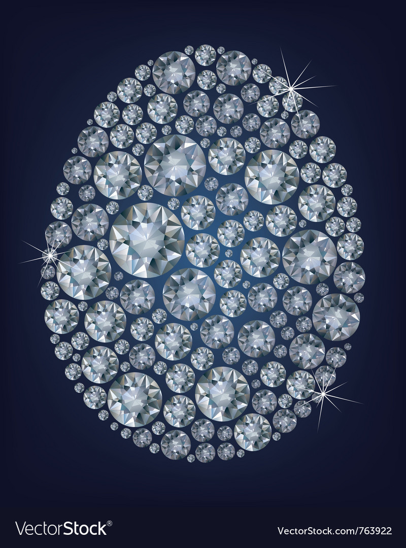 Easter diamond egg vector image