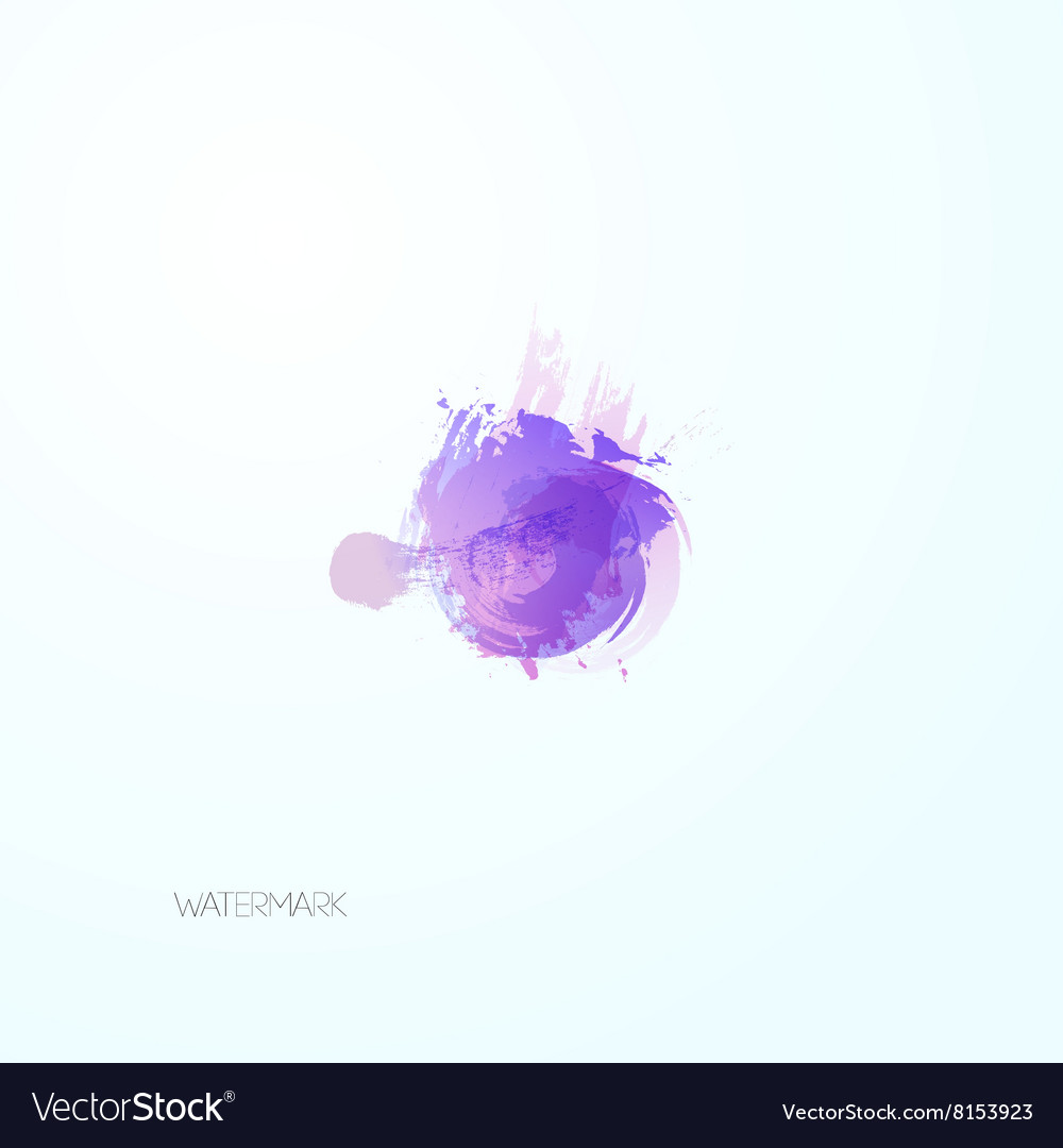 Abstract watercolor blot vector image