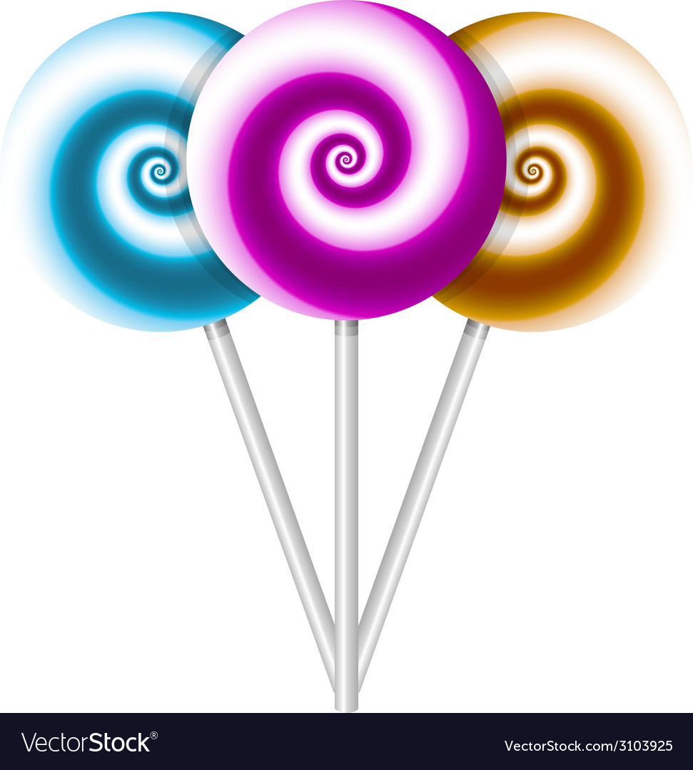 color lollipops vector image - Lollipop Pictures To Color