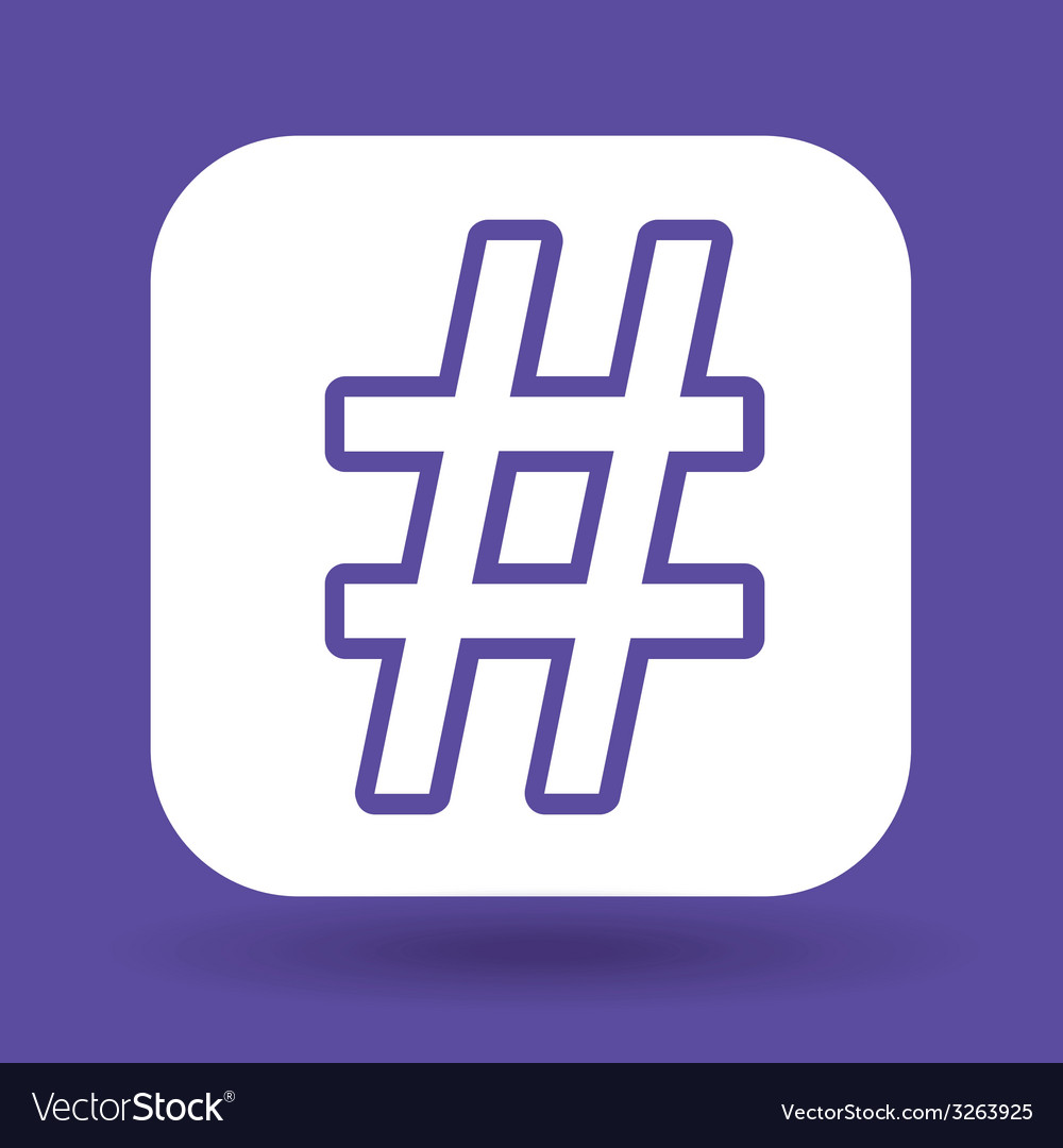 Hashtag design vector image