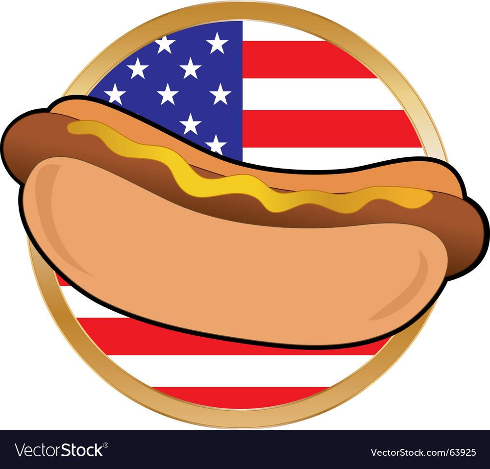 Hot dog American flag vector image