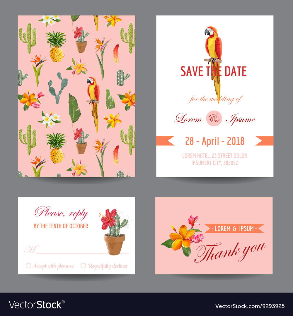 Invitation Card Save the Date Card Wedding Card vector image