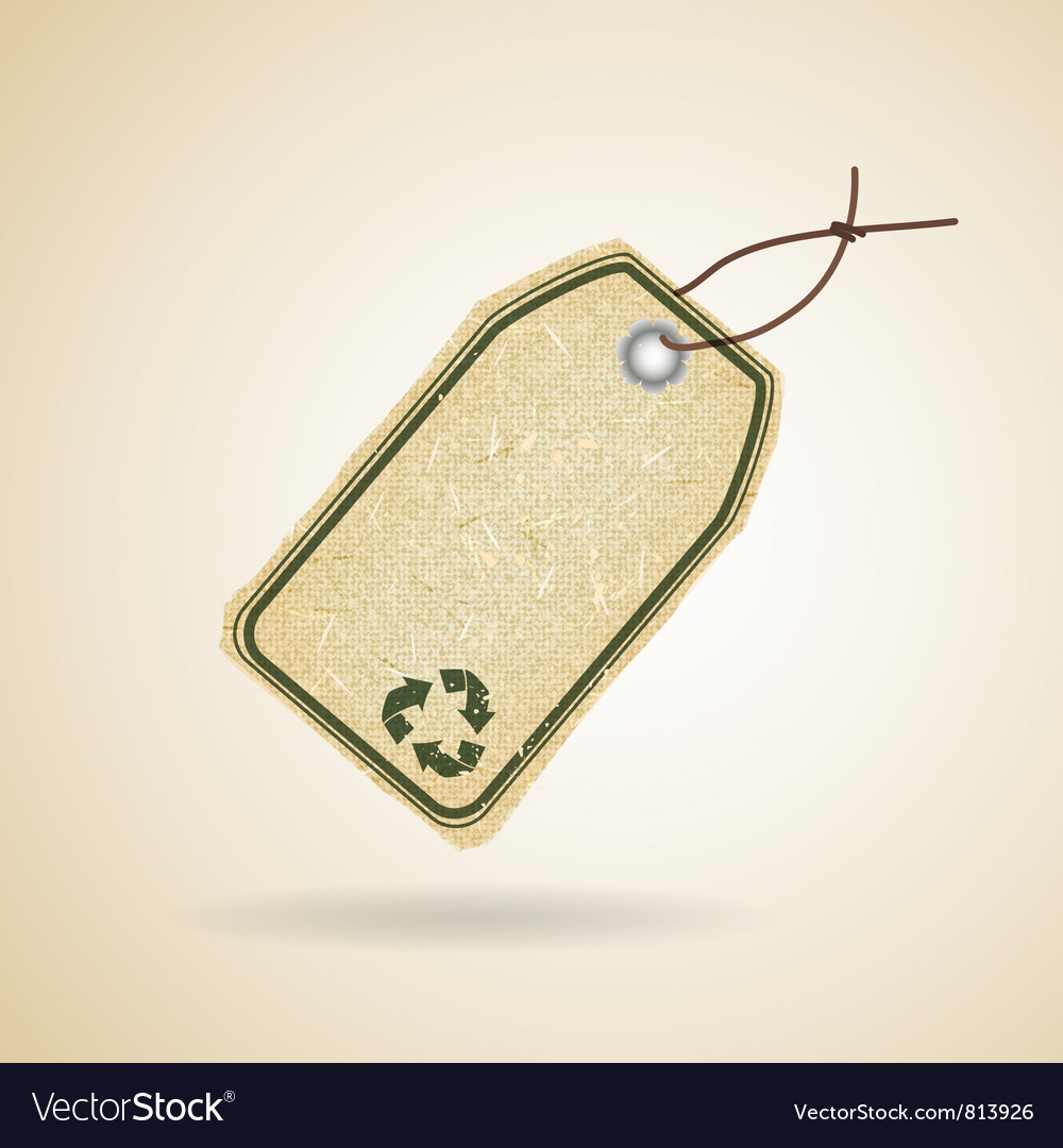 Eco recycle tag vector image