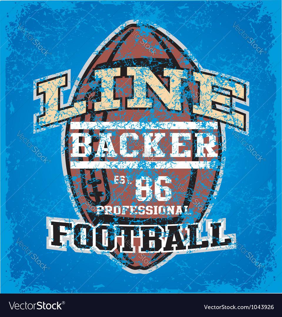 LINE BACKER crack vector image