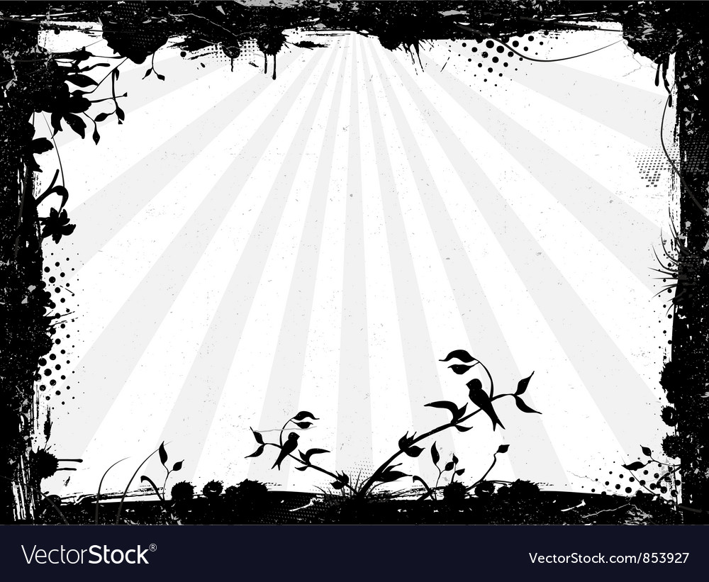Grunge background with rays vector image