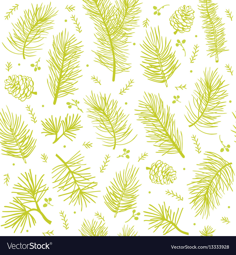 Seamless background tree vector image