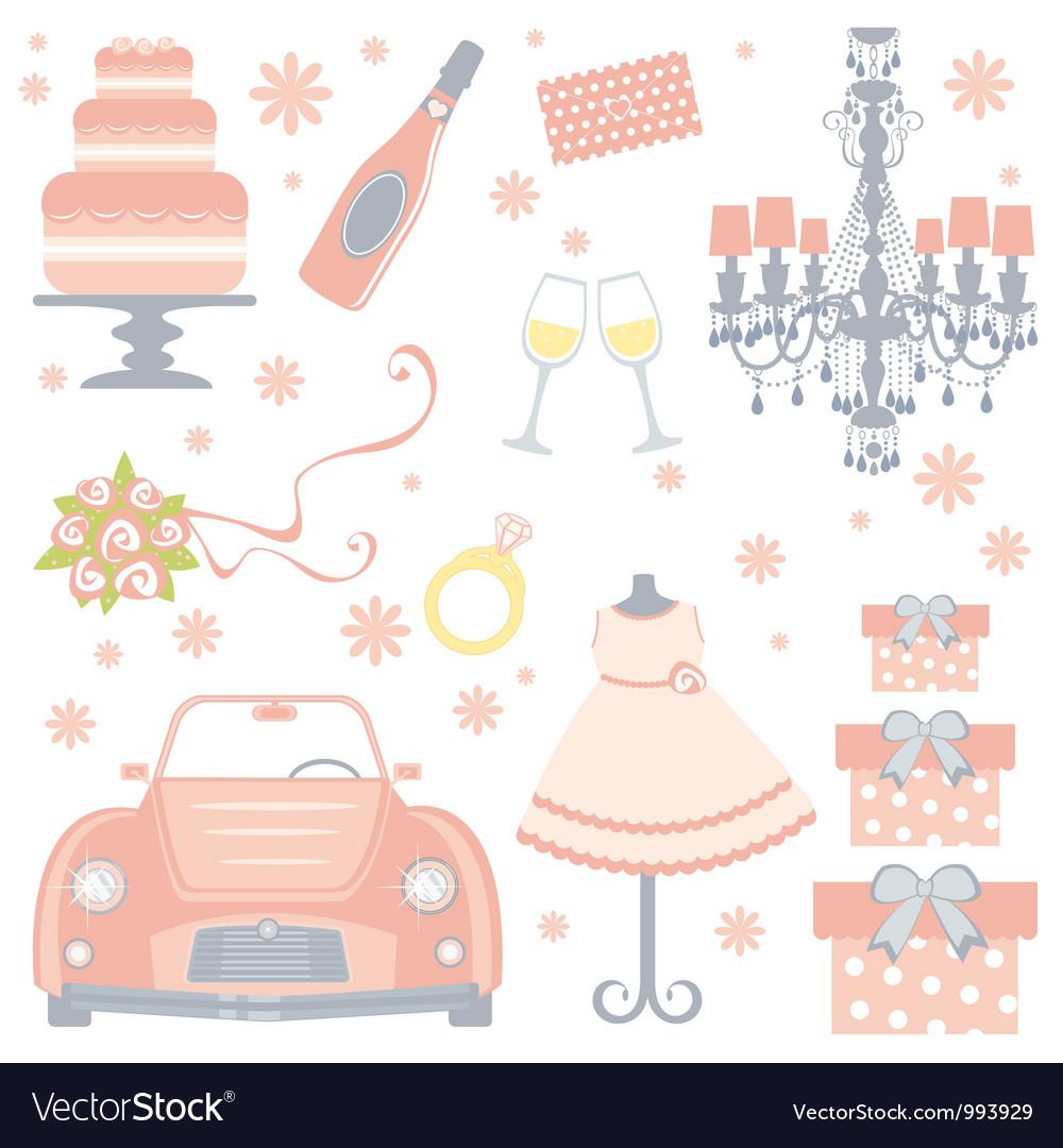 Cute bridal shower vector image