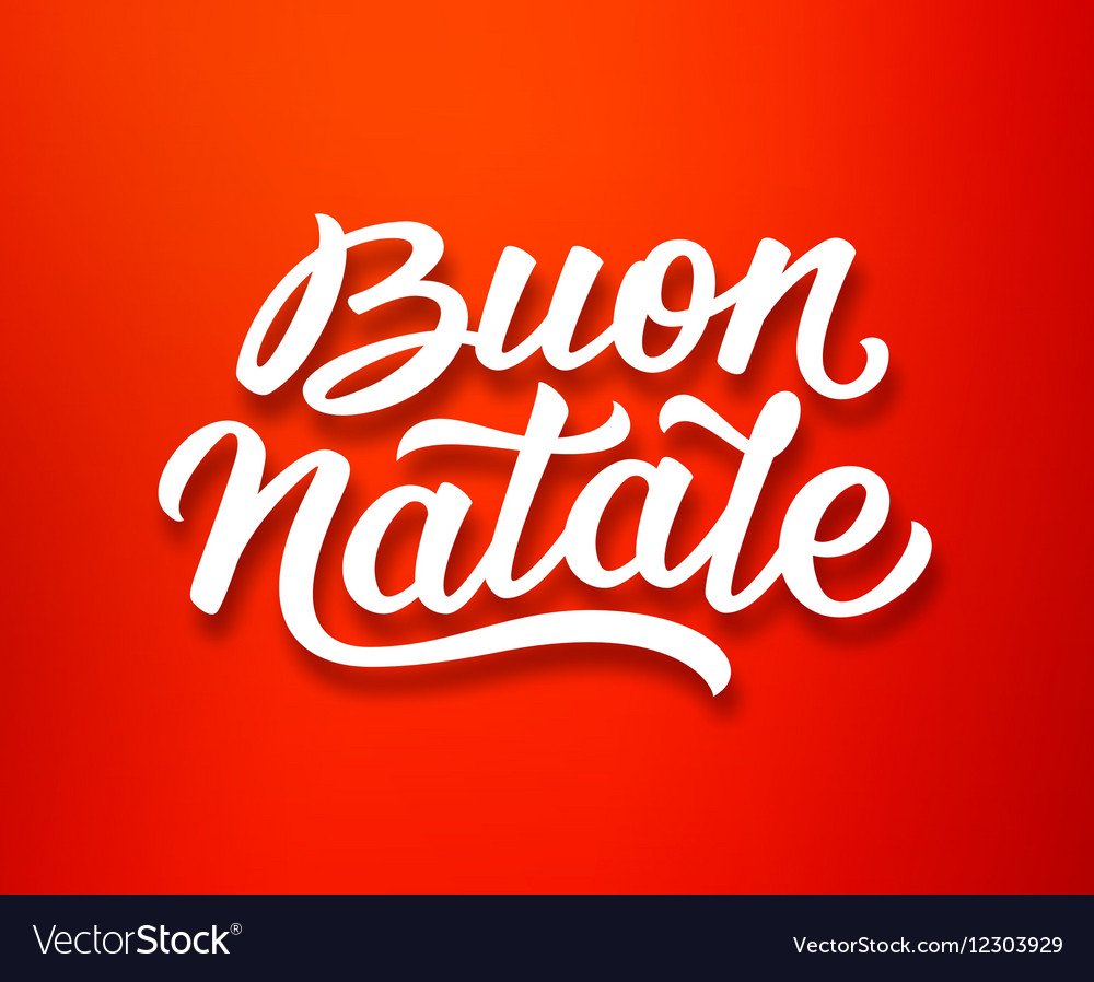 Buon natale lettering in italian christmas card vector image kristyandbryce Images