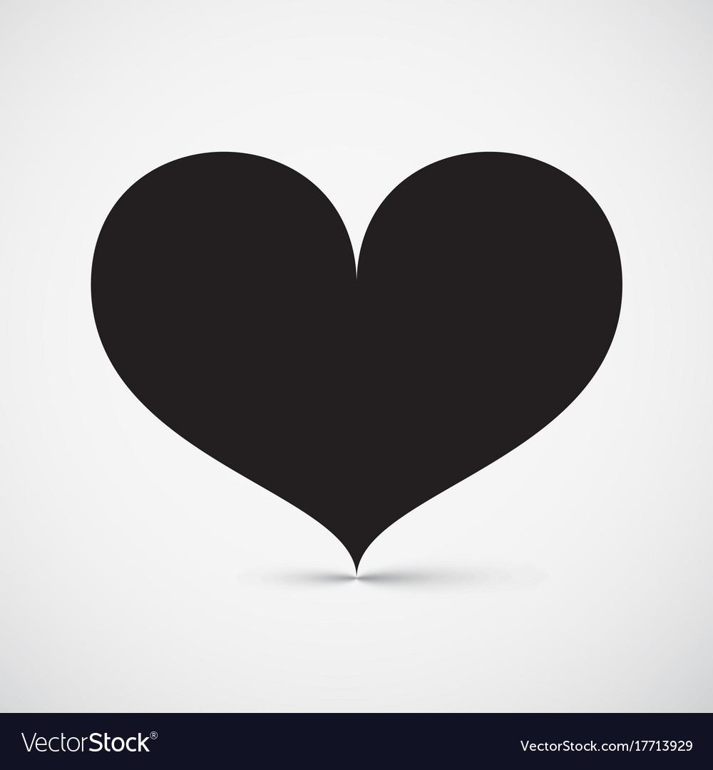 Heart icon simple symbol vector image