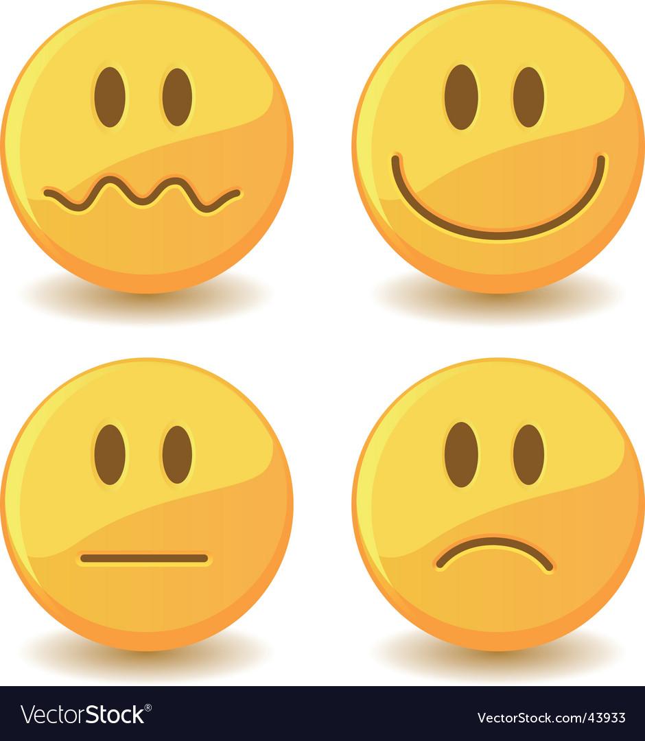 Smiley vector image