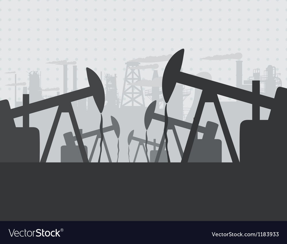 Oil extracting vector image
