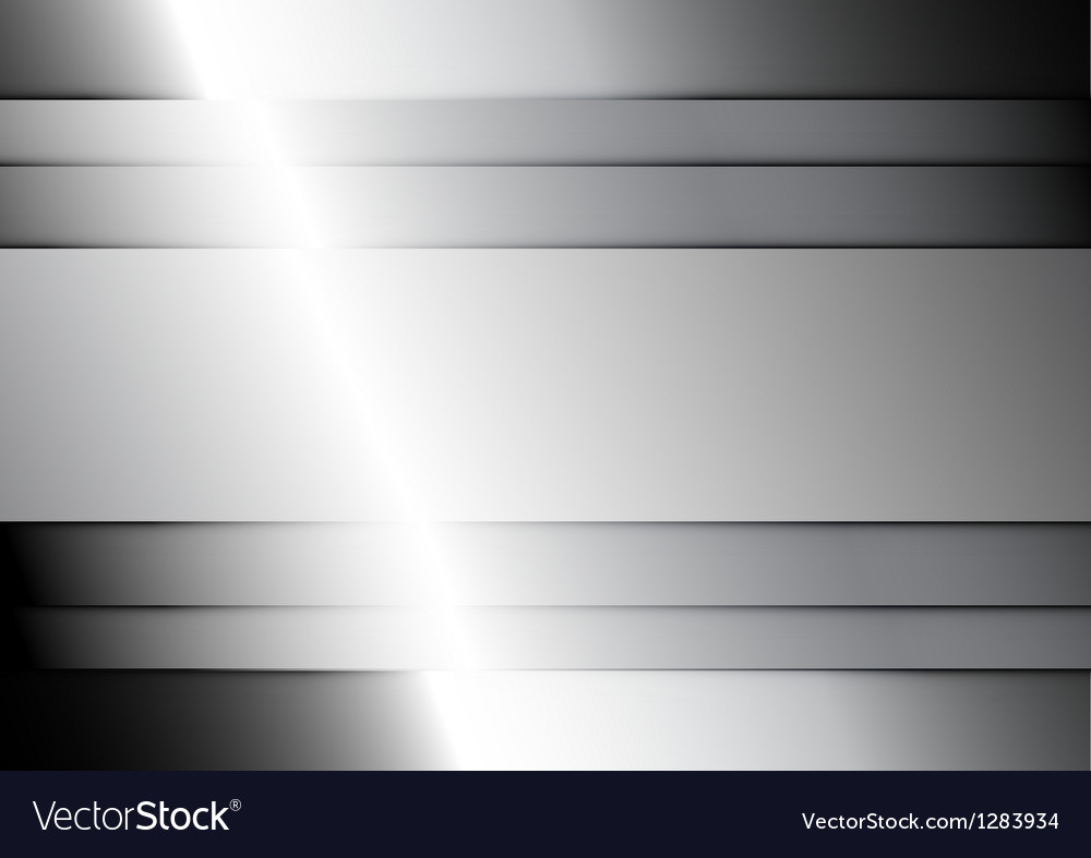 Shiny metal background vector image