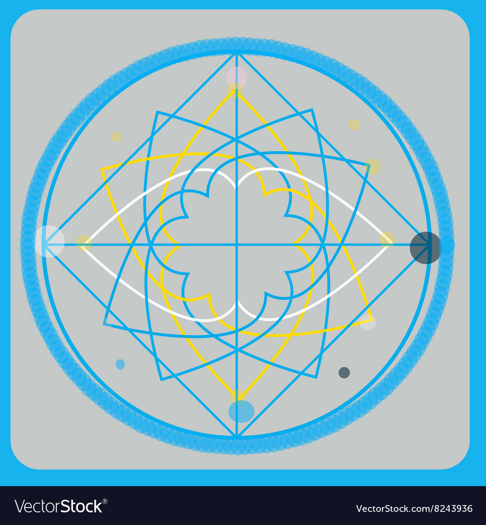 Sacred geometry design elements Alchemy vector image