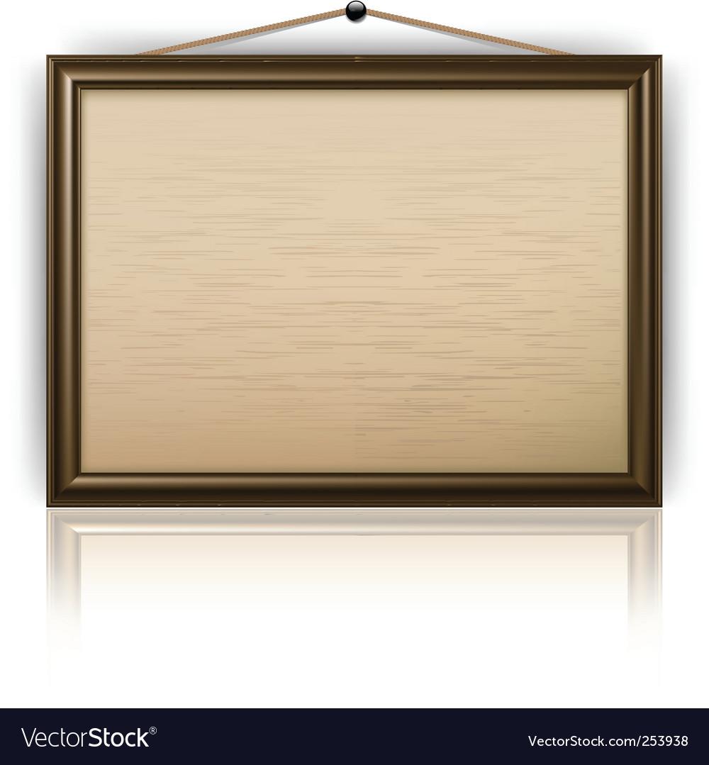 Notice board vector image