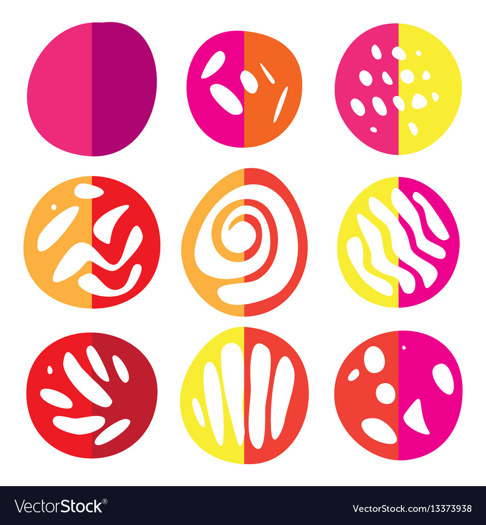 Set of hand drawn scetch elements vector image