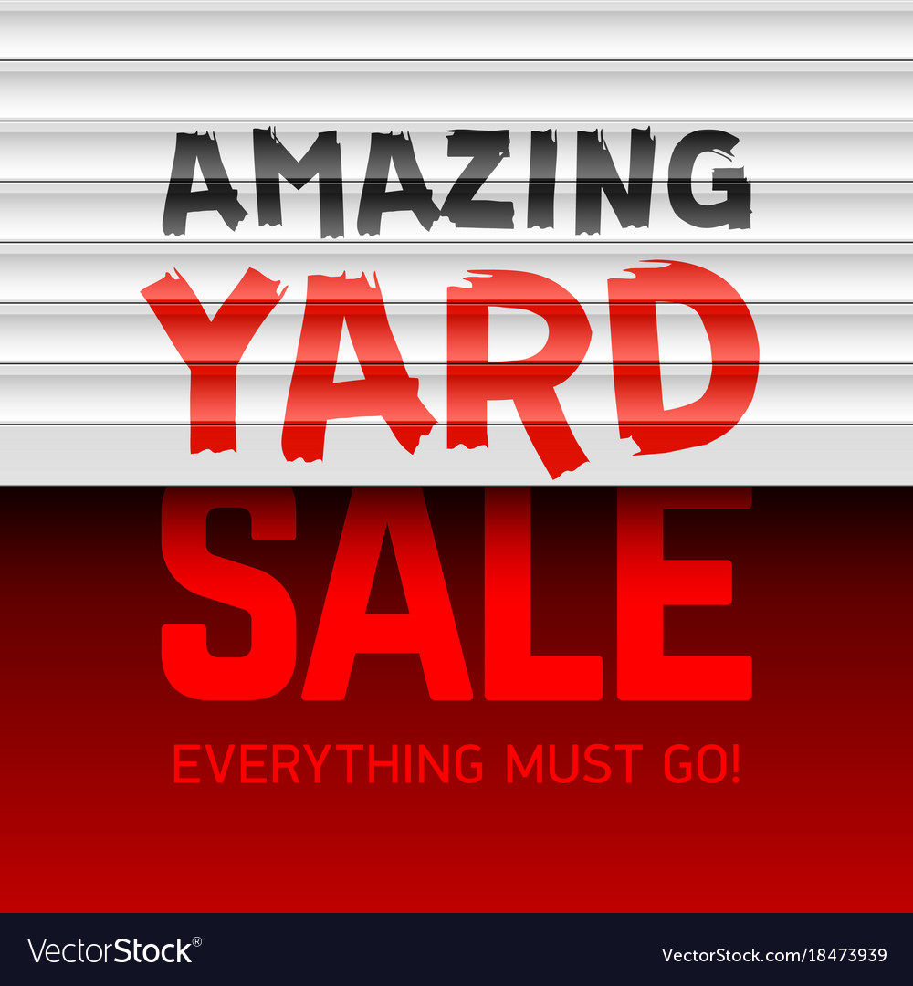 Amazing Yard Sale Poster Template Vector Image  For Sale Poster Template