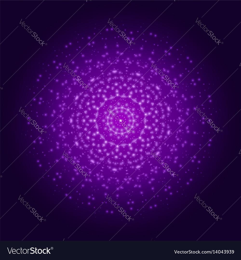 Purple light mandala abstract ornament vector image