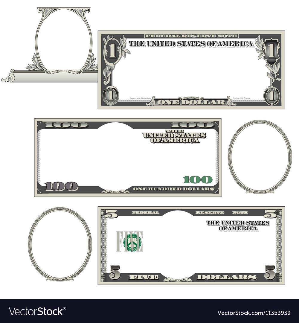 Stylized blank money vector image