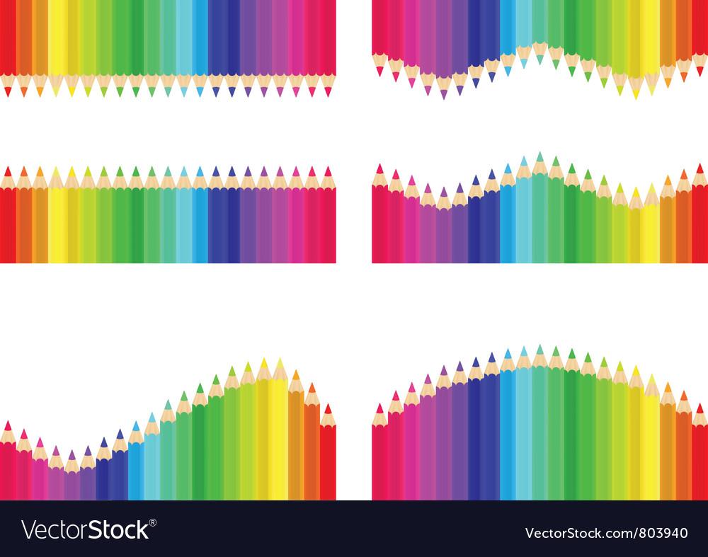 Pencil background set vector image