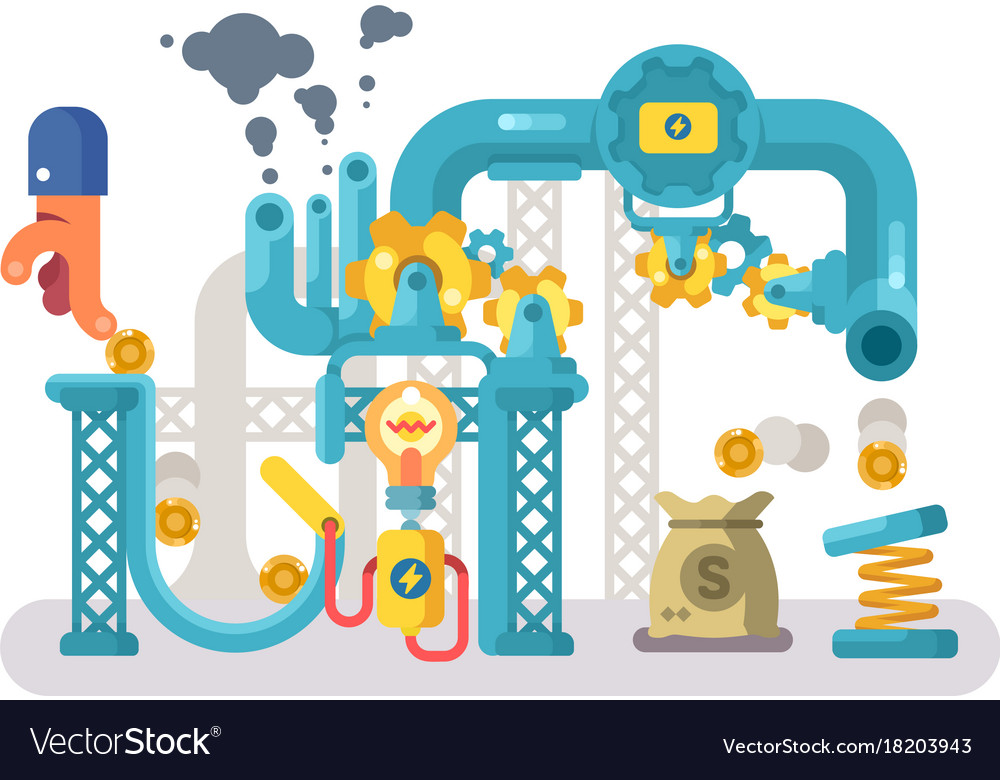 Crowdfunding abstract structure design flat vector image