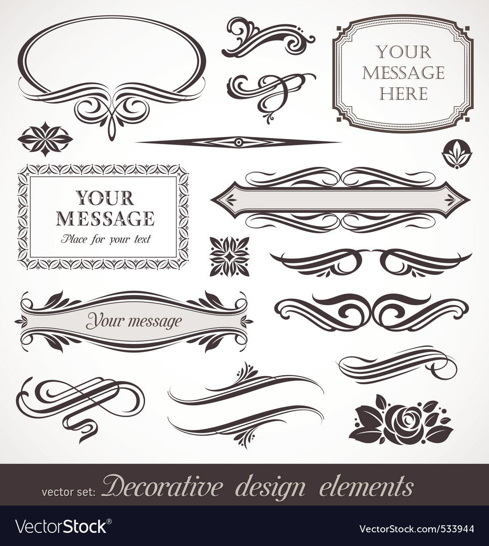 Design elements  page decor vector image