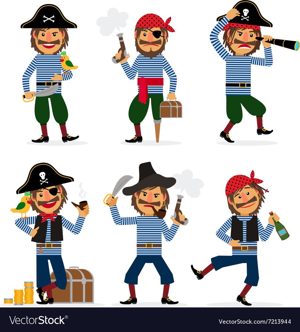 cartoon pirate character royalty free vector image