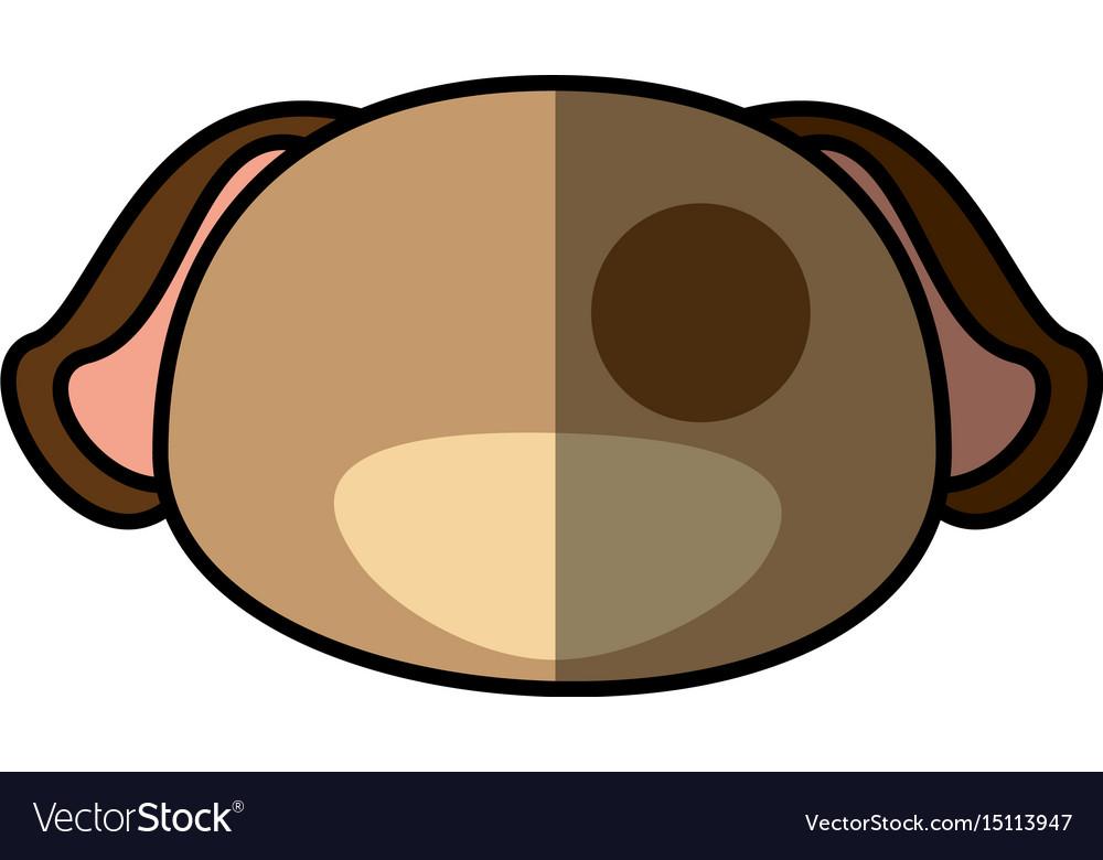 Dog pet faceless cartoon vector image