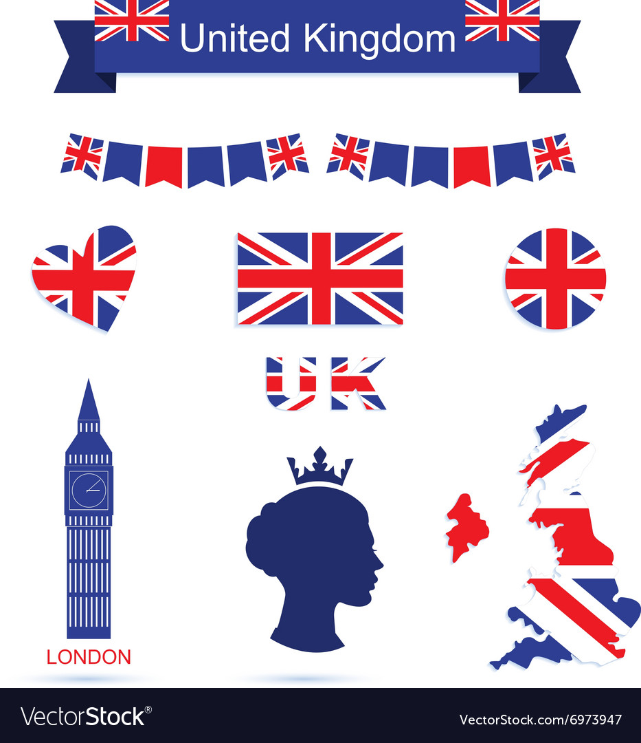 United kingdom symbols uk flag icons set vector image united kingdom symbols uk flag icons set vector image biocorpaavc