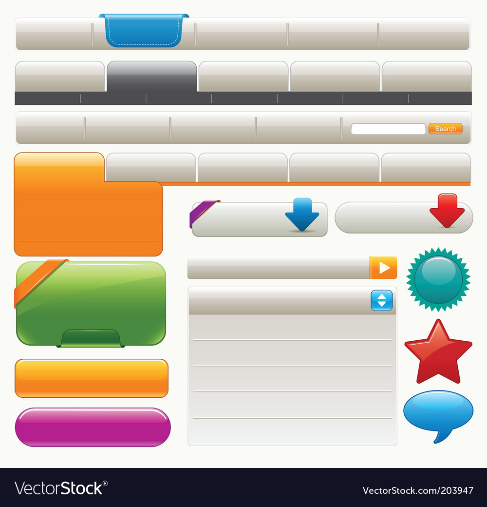 Website design materials vector image