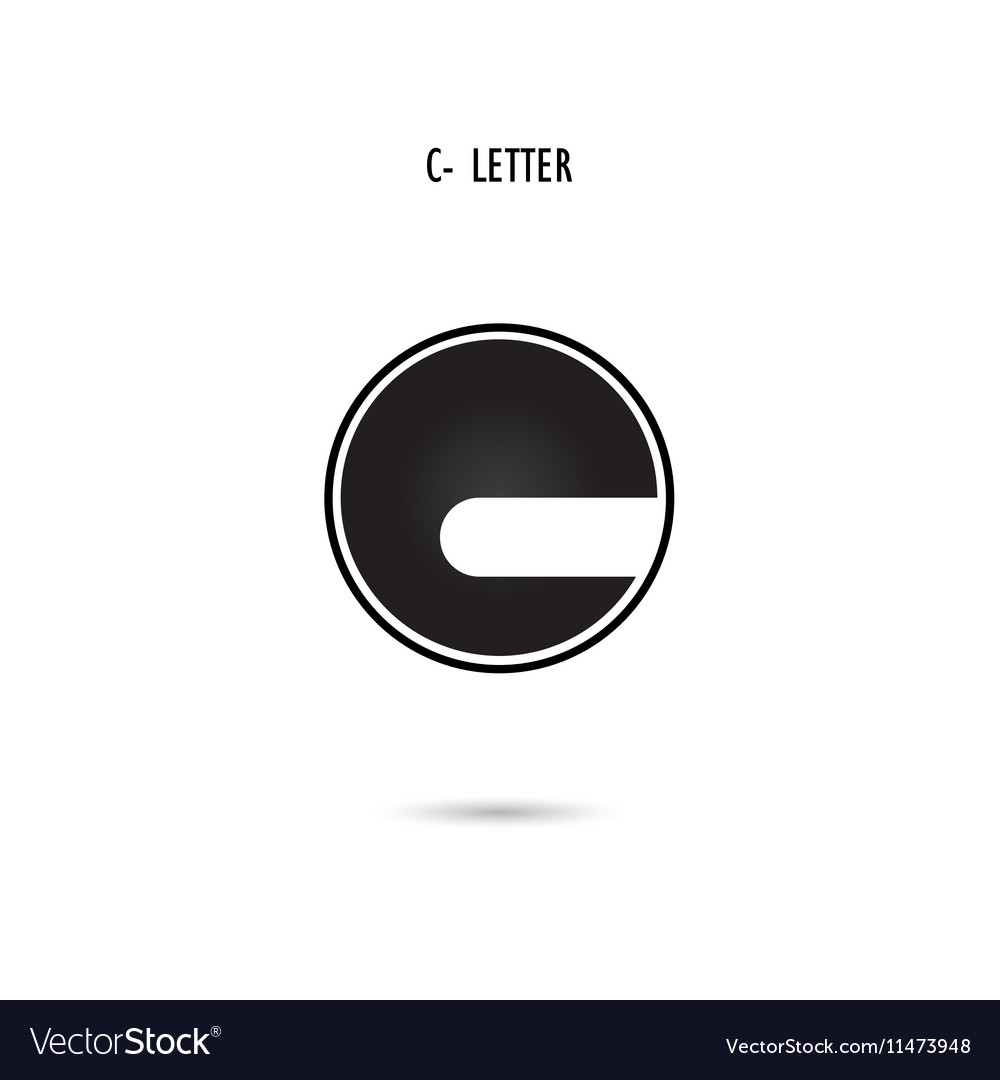 C-letter abstract logo vector image
